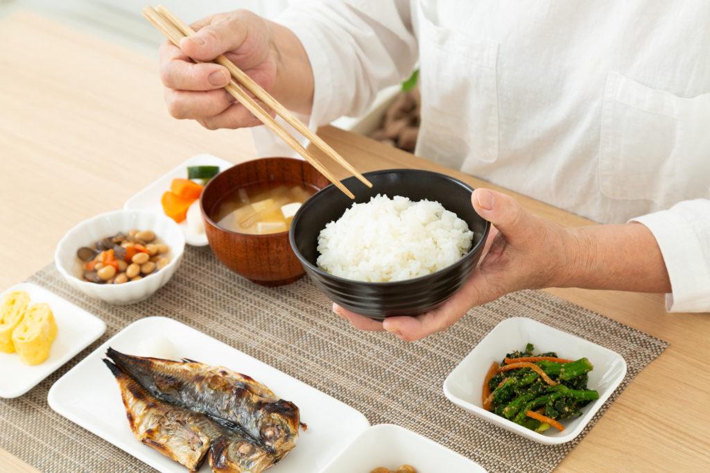老人ホーム 食事-和食