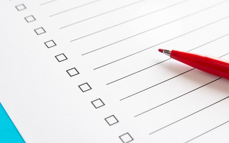 介護ストレス 解消法-チェックリストと赤ペン
